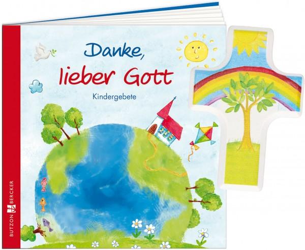 "Geschenkset ""Danke, lieber Gott"" inkl. Handschmeichlerkreuz"