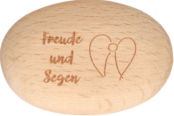 """Handschmeichler """"Freude und Segen"""" Buchenholz 6 x 4 cm"""