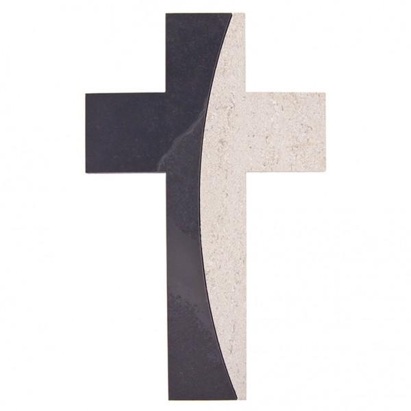 Schiefer-Kalksteinkreuz 22 x 15 cm