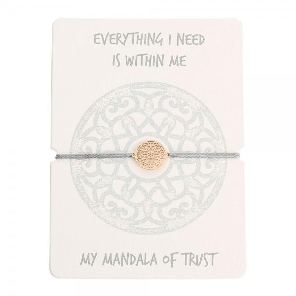 "Glücksarmband ""Mandala des Vertrauens"""