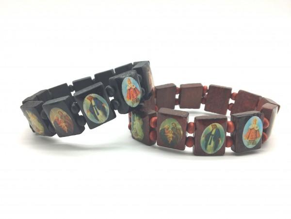 Armband mit 12 Heiligenbildchen