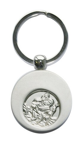 Schlüsselanhänger Christophorus mit Einkaufswagen-Chip