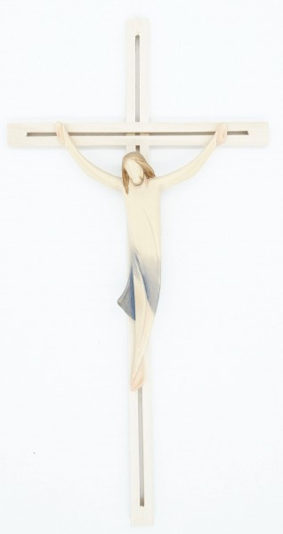 Holzkreuz Christuskörper auf geradem Balken 27 cm