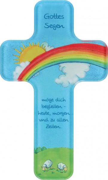 "Kinderkreuz ""Gottes Segen"" Acrylglas 18 x 11 cm"