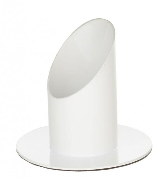 Kerzenständer für Kerzendurchmesser 4 cm Weiß