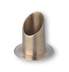 Kerzenständer für Kerzendurchmesser 4 cm Messing poliert, vernickelt
