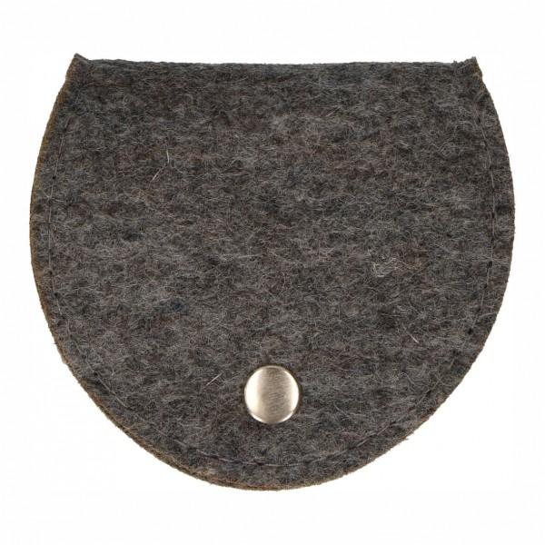 Rosenkranz-Etui Filz Grau 9 x 8 cm