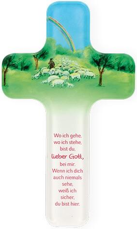 """Kinderkreuz """"Guter Hirte"""" Acrylglas 18 x 11 cm"""