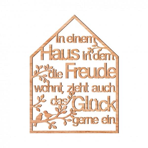 """Dekoschriftzug """"In einem Haus, in dem die Freude ..."""" 23 x 17 cm"""