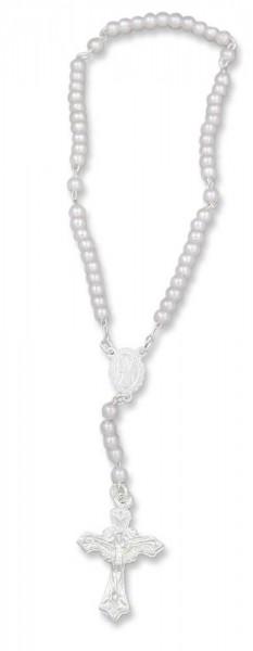 Rosenkranz für Kinder und Babys mit weißer Perle