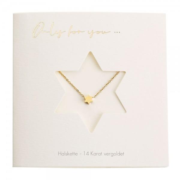 Halskette mit Stern vergoldet