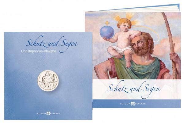 """Geschenkset """"Schutz und Segen"""" inkl. Christophorus-Plakette"""