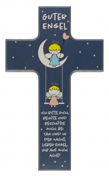 "Kinderkreuz ""Guter Engel"" Buche Bunt 15 x 9 cm"