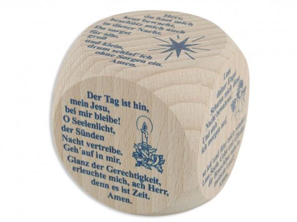 Gebetswürfel - Abendgebete Ahornholz 5,5 x 5,5 cm
