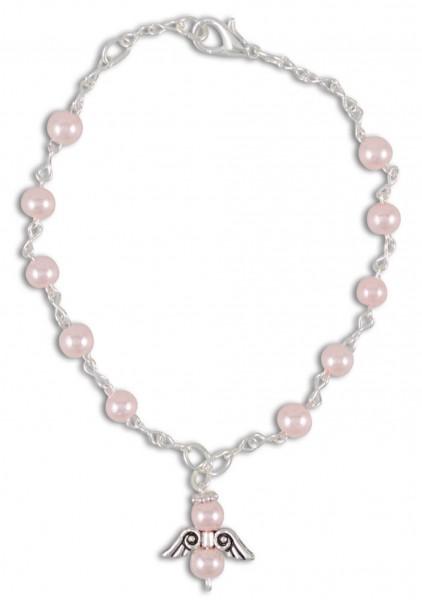 Rosenkranz-Armband Rosa mit Schutzengel