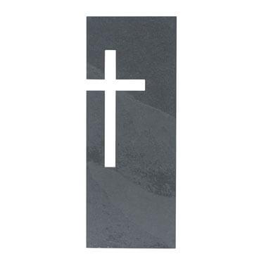 "Schieferkreuz ""Ausgestanztes Kreuz"" Grau 23 x 9 cm"