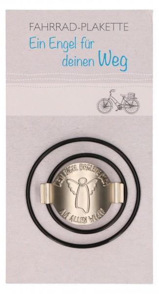 """Fahrrad-Plakette """"Schutzengel - Dein Engel begleite dich auf allen Wegen"""""""