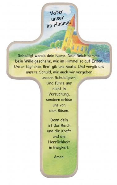 "Kinderkreuz ""Vater unser"" Buche Natur 18 x 11 cm"