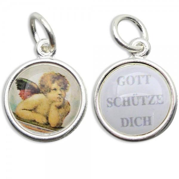 """Tombak Kettenanhänger """"Engel - Gott schütze dich"""" 1,3 cm"""