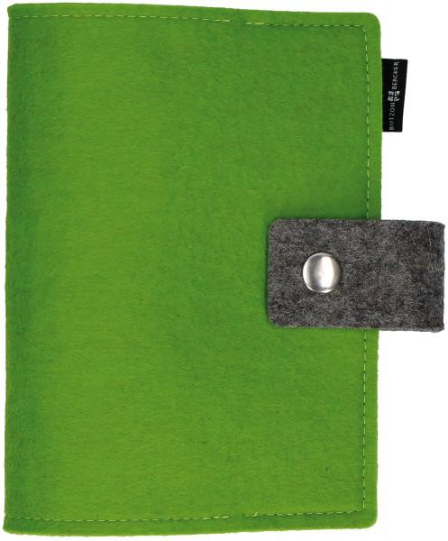 Gotteslobhülle mit Druckknopfverschluß Wollfilz Hellgrün