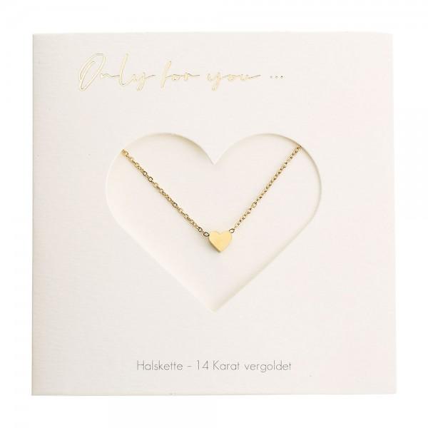 Halskette mit Herz vergoldet