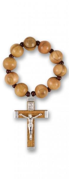 Gebetsring aus Olivenolz dehnbar 7 cm