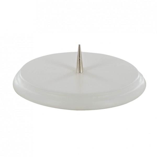 Kerzenständer aus Buchenholz Weiß