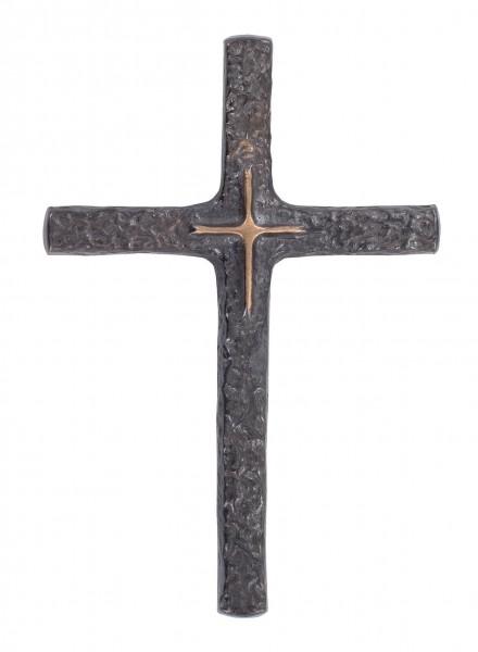 Bronzekreuz dunkel patiniert 8 x 12 cm