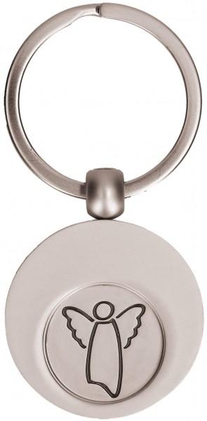 """Schlüsselanhänger mit Einkaufswagen-Chip """"Engel"""""""
