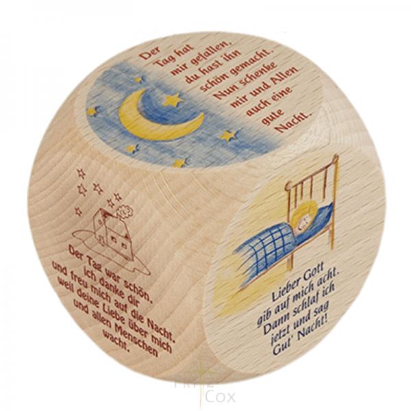 Gebetswürfel - Kinder-Abendgebete Buche 6 x 6 cm