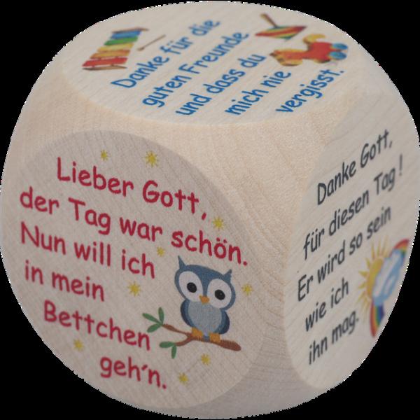 Mini Gebetswürfel - Kindergebete Ahornholz 3,9 x 3,9 cm