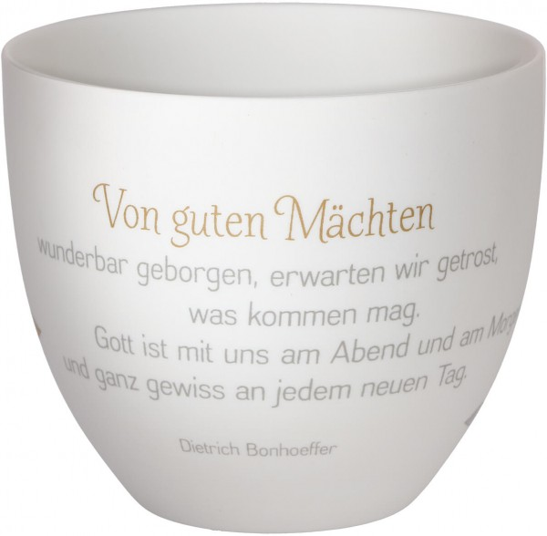 """LichterZeit Windlicht aus Porzellan """"Von guten Mächten"""""""