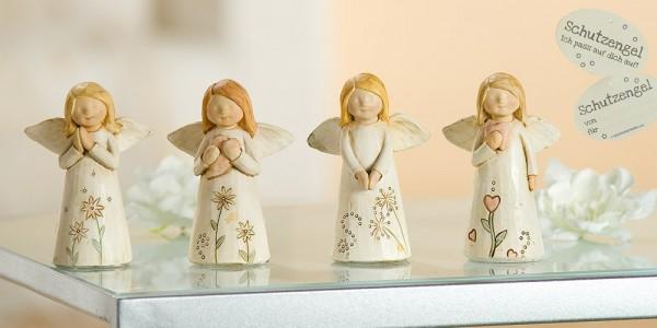 """Gilde Schutzengel """"Mutmacher"""" mit Blumenverzierung 8,5 cm"""