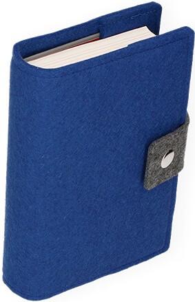 Gotteslobhülle mit Druckknopfverschluß Wollfilz Königsblau