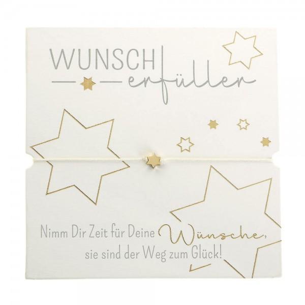 Armband-Wunscherfüller Stern vergoldet Band weiß