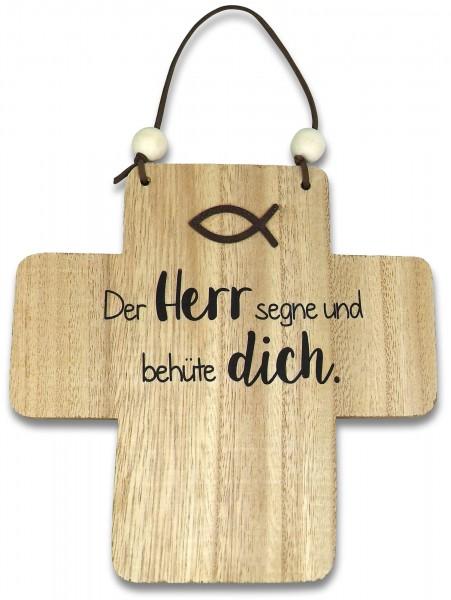 """Holzkreuz """"Der Herr segne und behüte dich."""" 18 cm"""