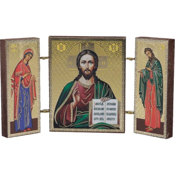 Triptychon - stehende Magnet-Ikone 4,5 x 5,5 cm