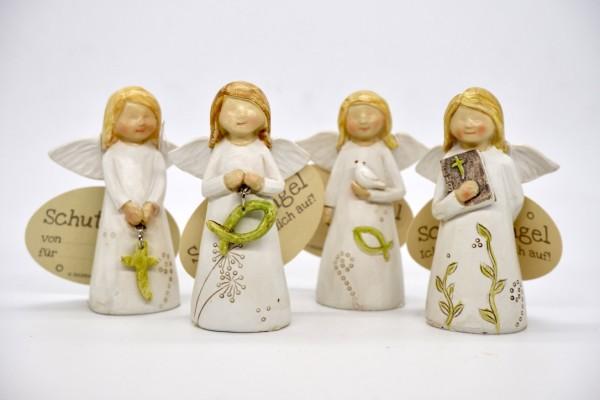 """Gilde Schutzengel """"Mutmacher"""" mit christlichen Symbolen 8,5 cm"""