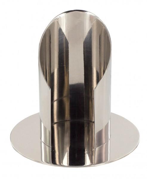 Kerzenständer für Kerzendurchmesser 5 cm Messing poliert, vernickelt
