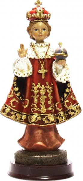 """Heiligenfigur """"Prager Jesulein"""" 19 cm mit rotem Umhang"""