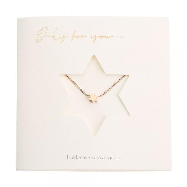 Halskette mit Stern rosévergoldet