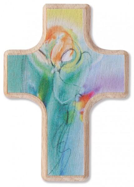 """Handschmeichlerkreuz """"Dein Engel"""" Buchholz 6 x 4 cm"""